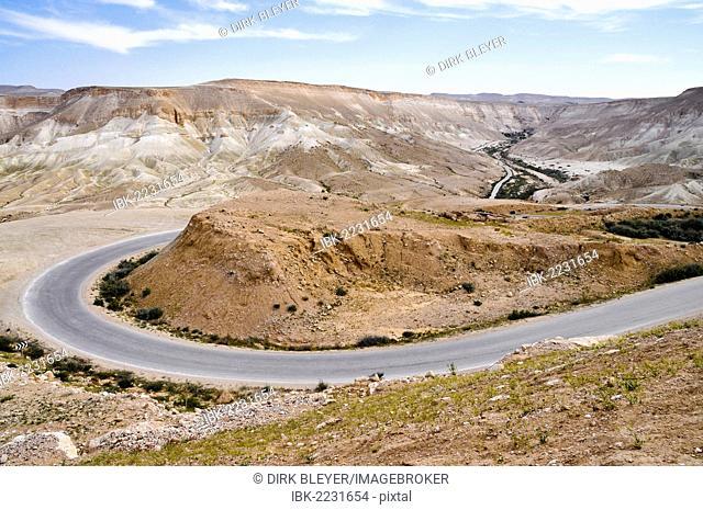 Road near Mitzpe Ramon, Negev Desert, Israel, Middle East, Southwest Asia