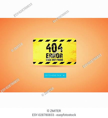 Creative page not found, 404 error design