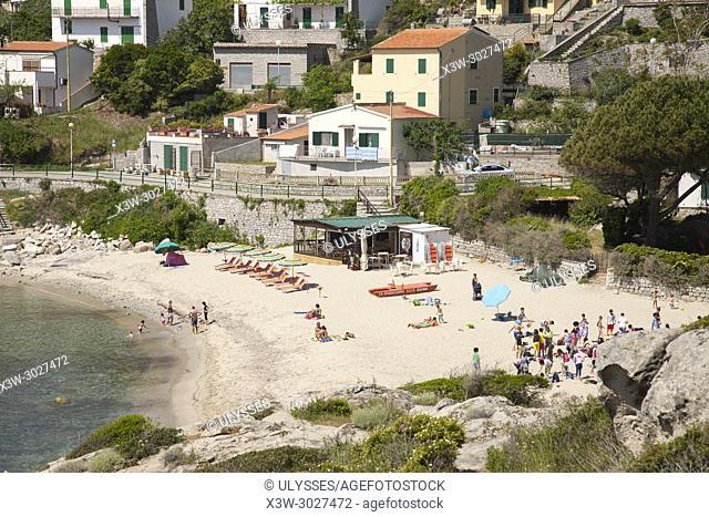 Seccheto village and beach, Elba island, Tuscany, Italy, Europe