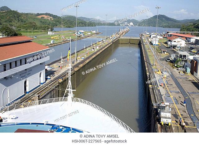 Miraflores Locks. Panama Canal. Panama. Central America