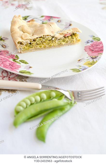 Peas and Salami Pie