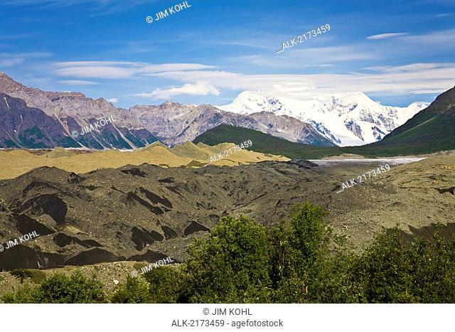 View Of The Root Glacier Moraine Near Kennicott In Southcentral Alaska Summer