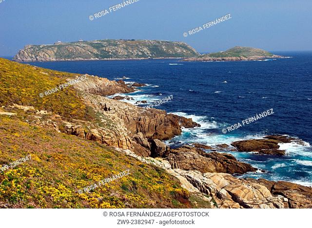 Sisargas Islands, protected area included into the Site of Interest of Costa da Morte, reserve of endemic flora and migrating species of sea birds
