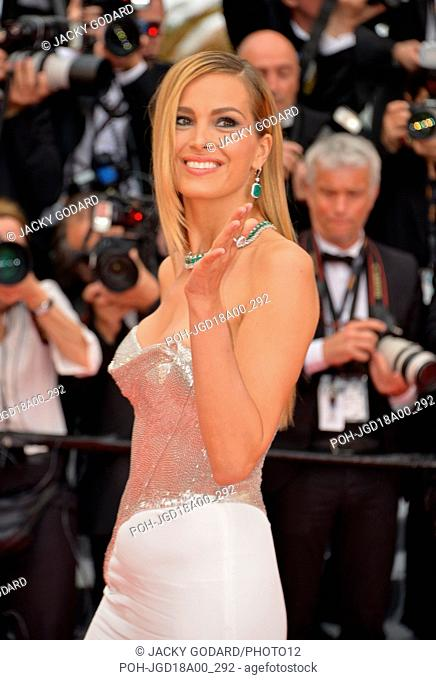 Petra Nemcova, Czech model. Arriving on the red carpet for the film 'Plaire, aimer et courir vite' 71st Cannes Film Festival May 10, 2018 Photo Jacky Godard