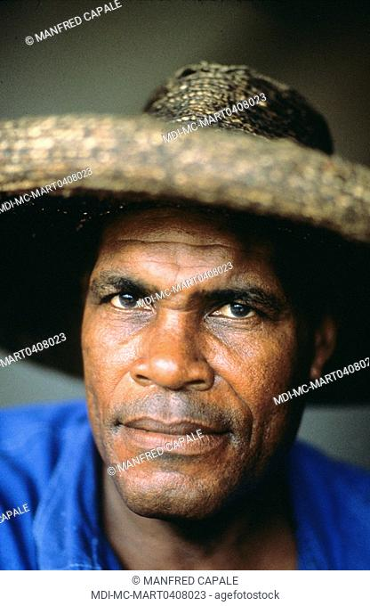 Creole man with a traditional hat
