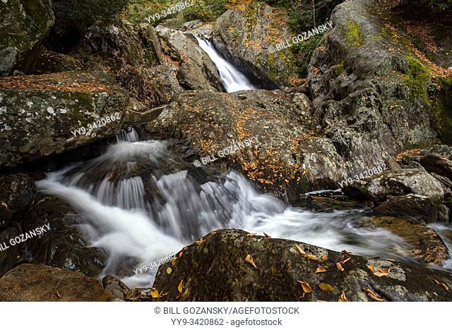 Sunburst Falls or Pigeon River Cascades off of Highway 215 - Pisgah National Forest, near Brevard, North Carolina, USA