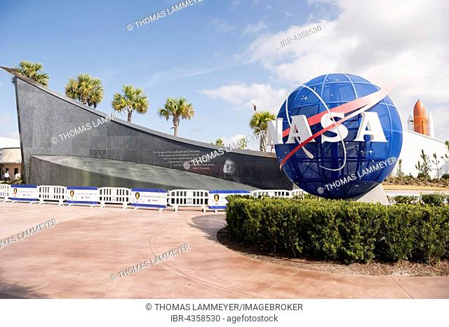 Entrance, Kennedy Space Center, NASA Space Station, Cape Canaveral, Florida, USA