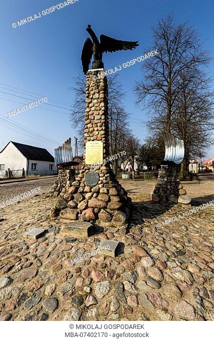 Europe, Poland, Podlaskie Voivodeship, Tykocin - Monument to the White Eagle