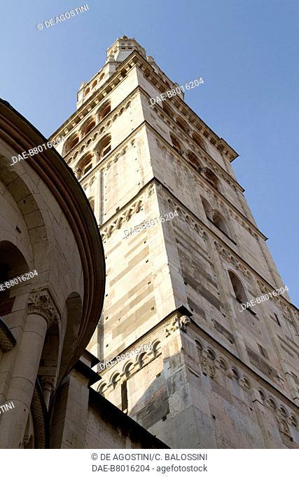 Ghirlandina bell tower Metropolitan Cathedral of Saint Mary of the Assumption and Saint Geminianus (UNESCO World Heritage List, 1997), Modena, Emilia-Romagna