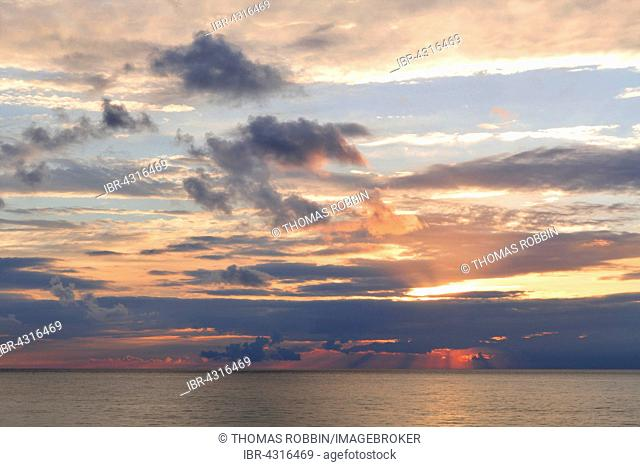 Cloud formation and sunset over the Baltic Sea in Kühlungsborn, Meckenburg-Vorpommern, Germany