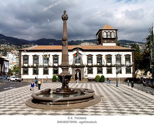 Funchal, city hall, main square, Portugal, Madeira, Funchal