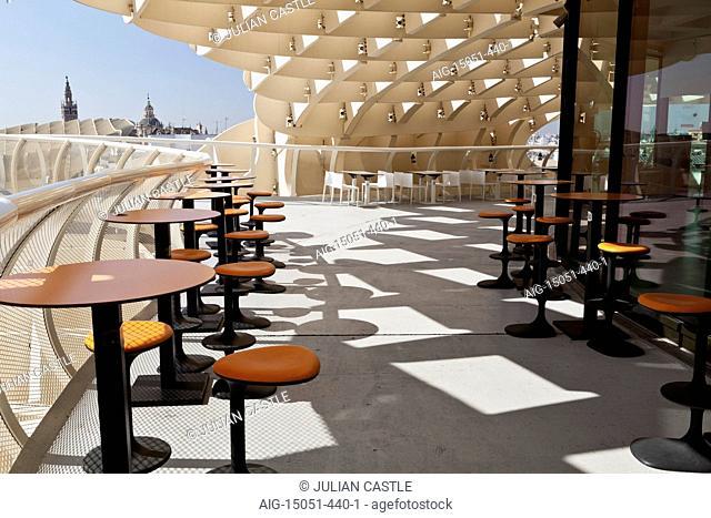 Restaurant and cafe, Metropol Parasol, Plaza de la Encarnacion, Seville, Andalucia, Spain