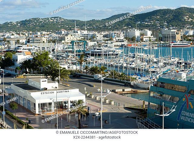 Estacion Maritima, La Marina, Port of Ibiza, Eivissa, Ibiza, Balearic Islands, Spain, Mediterranean, Europe