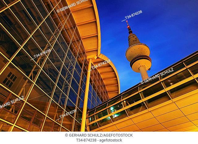 Television tower at Exhibition Center, Hamburg, Germany