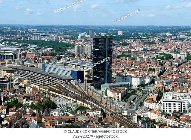 Tour du Midi (aka Zuidertoren), Brussels, Belgium