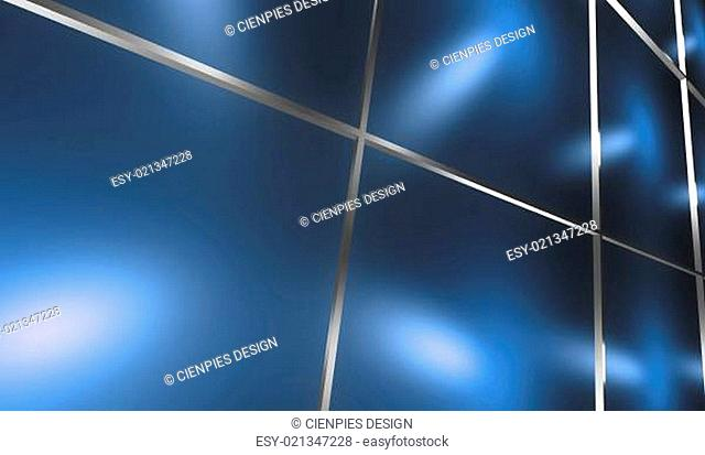 Abstract 3D framed blue background