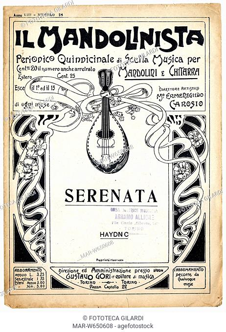 MUSICA 'Il Mandolinista' Periodico quindicinale di Scelta Musica per mandolini e chitarra, diretto dal chitarrista-compositore Ermengildo Carosio (1886-1928)