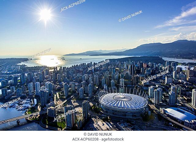 Aerial view over Vancouver, British Columbia