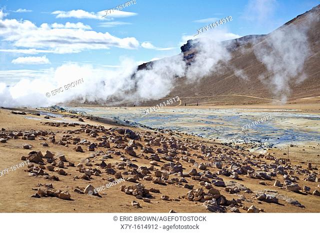 Námafjall is a geothermally-active area in Iceland