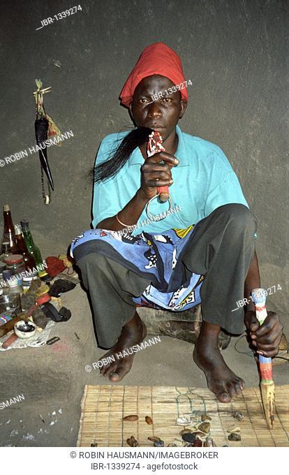 Medicine man in Humulani, South Africa, Africa