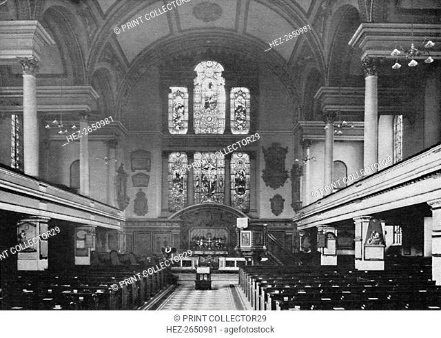 'Interior of St. James's Church, Piccadilly', 1903. Artist: Unknown