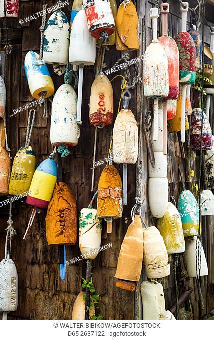 USA, Maine, Cape Neddick, lobster buoys