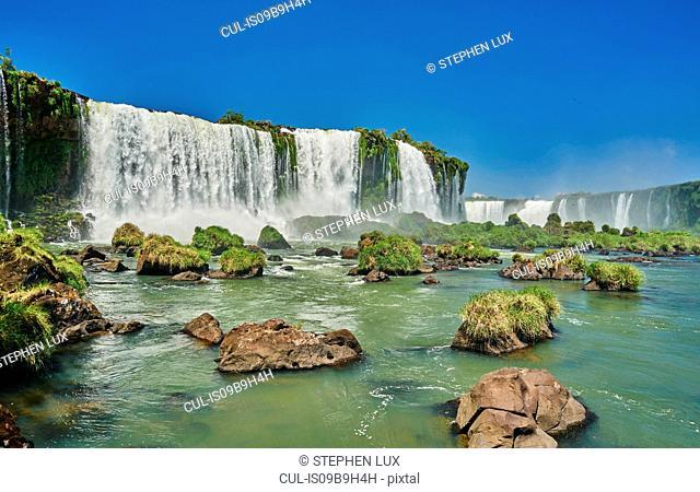 Iguazu waterfalls, Foz de Iguassu, Parana, Brazil, South America
