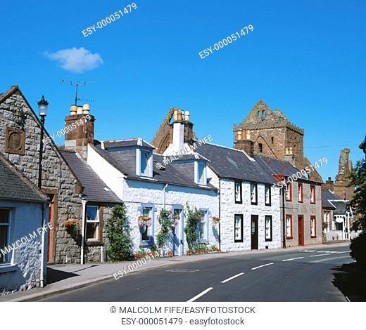 New Abbey village, near Dumfries. Dumfries and Galloway. Scotland