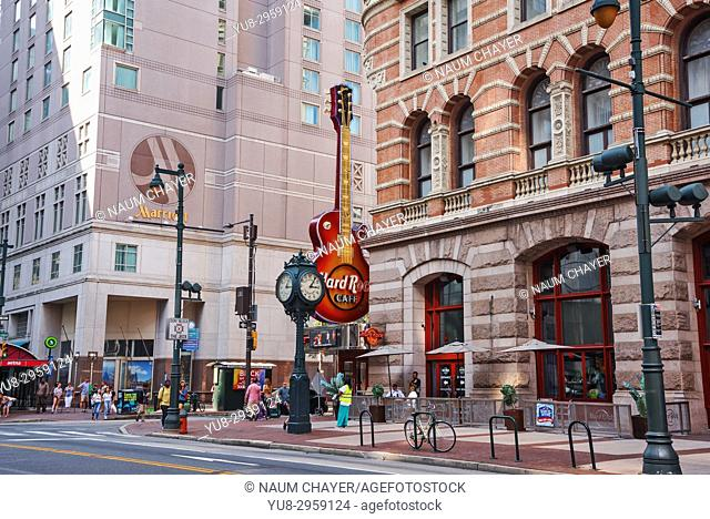 Famous Hard Rock cafe, Philadelphia, Pennsylvania, USA