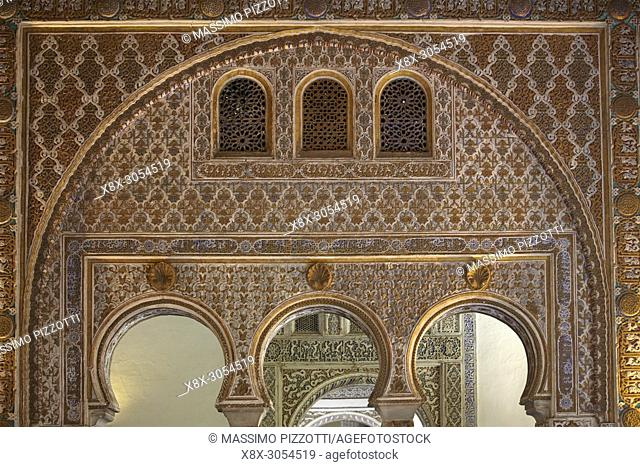 The Ambassadors Reception Room, Alcázar of Seville, Andalusia, Spain