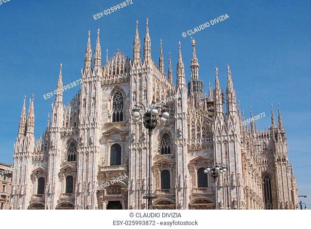 Duomo di Milano gothic cathedral church in Milan, Italy