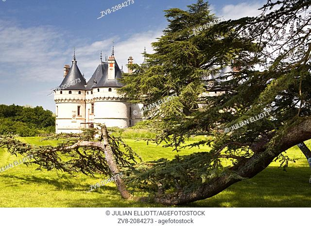 The renaissance chateau at Chaumont-sur-Loire in France