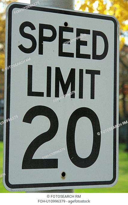MD, Maryland, Speed Limit 20, regulatory sign
