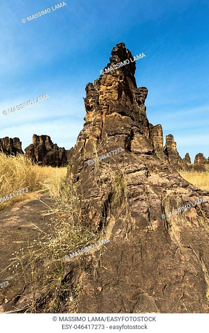 The peaks of Sindou are a rock formation near the town of Sindou, Burkina Faso. Part of the site is accessible to tourists