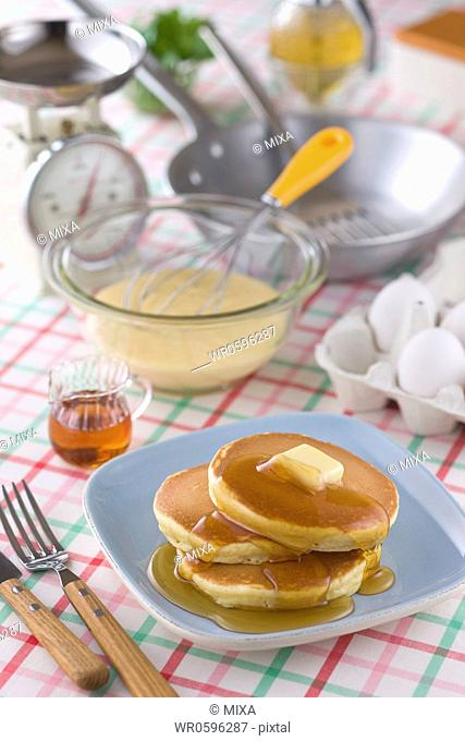 Hotcake and Ingredients