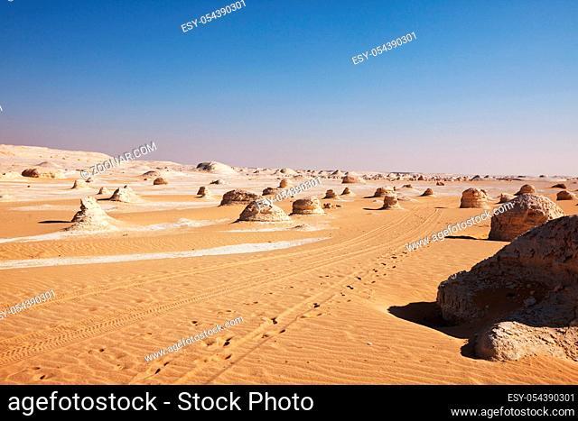 Beautiful chalk formation in White desert, Egypt, Africa