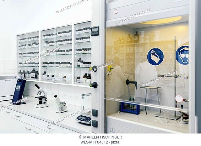 Interior of a lab in a pharmacy