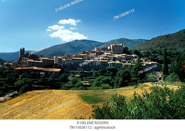 Mosset France Languedoc-Roussillon Town In The Pyrenees