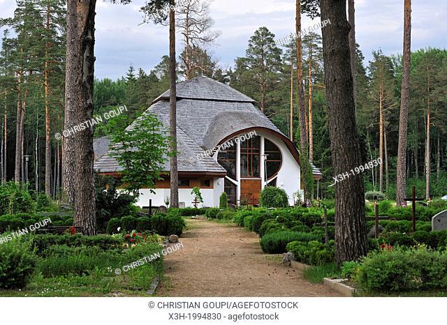 church and cemetery of Sigulda, Gauja National park, Vidzeme Region, Latvia, Baltic region, Northern Europe