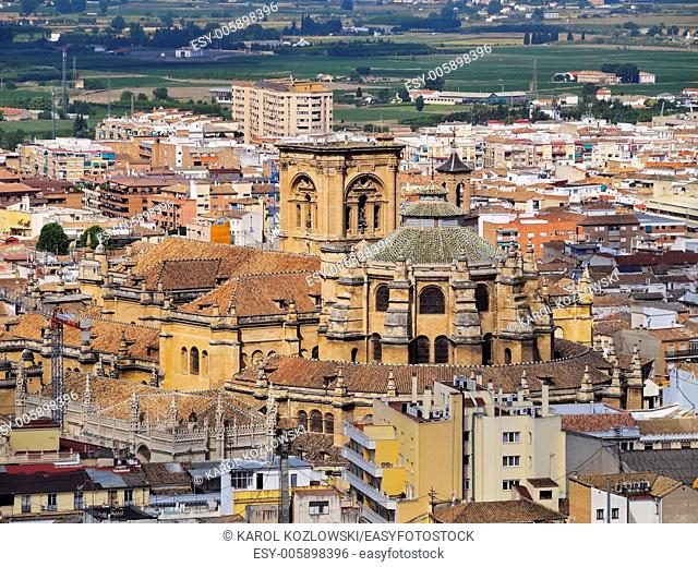 Cathedral in Granada - famous city in Andalusia, Spain