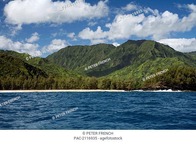 Hawaii, Kauai, The Na Pali Coastline, View From The Ocean