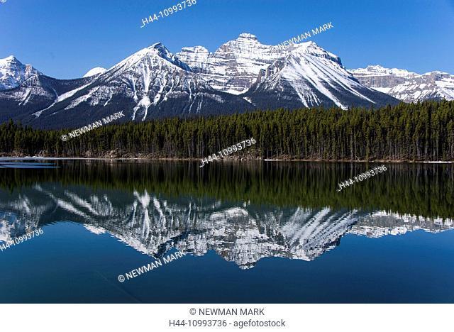 Banff, national park, alberta, canada, lake, mountains, landscape