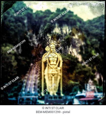 Golden statue at Batu Caves, Selangor, Malaysia