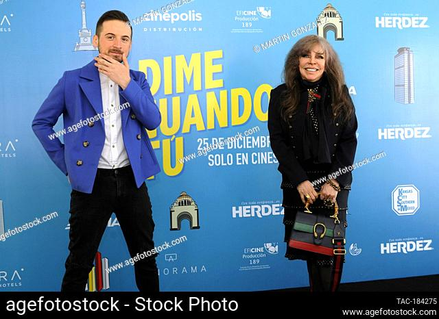 MEXICO CITY, MEXICO ñ DECEMBER 14: Actress Veronica Castro and Jesus Zabala during the press conference for the movie ëDime Cuando Tuí on December 14 2020 in...