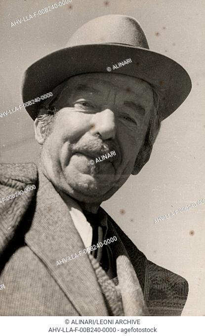 Portrait of the Futurist painter Giacomo Balla, shot 1951