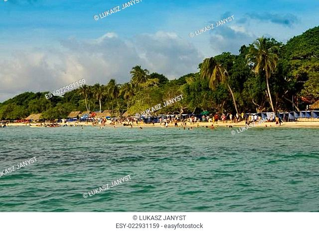 The Rosario Islands are an archipelago comprising 27 islands located about two hours by boat from Cartagena de Indias, Colombia