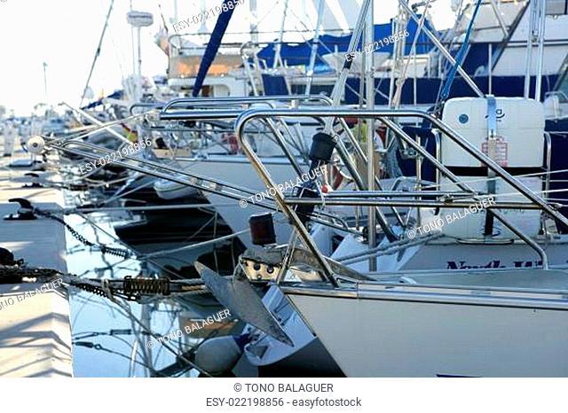 Marina in mediterranean sea