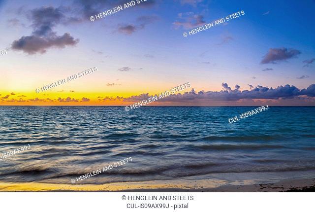 Sunset seascape, Dominican Republic, The Caribbean