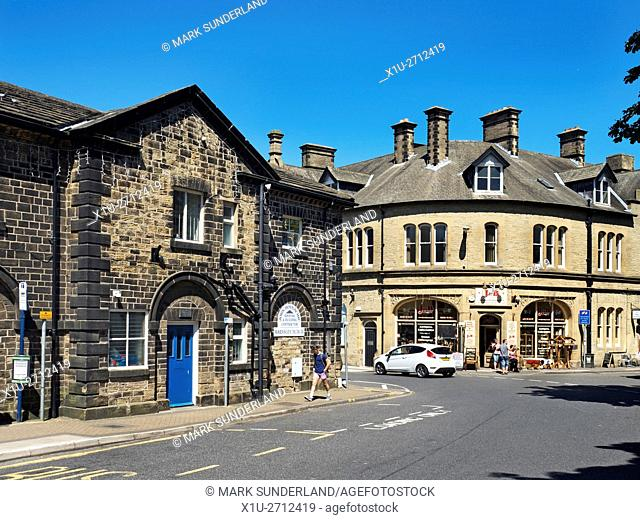 Shops in the Market Town of Penistone South Yorkshire England