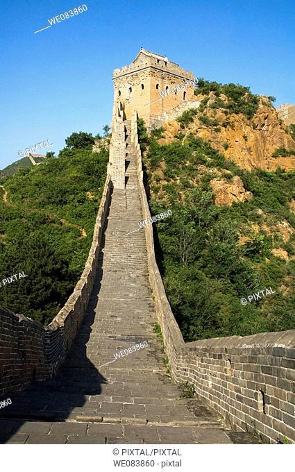Great wall near Jing Hang Ling, classified Unesco, Beijing, China